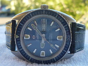 VINTAGE-ZODIAC-SEA-WOLF-200-Meters-DIVER-Automatic-STEEL-SWISS-MADE