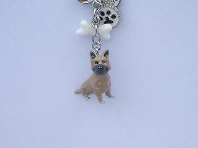 CAIRN TERRIER DOG KEY RING OR BAG CHARM HANDPAINTED