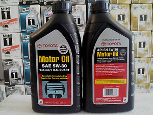 mobil toyota engine motor oil 5w30 10 quart 9 46 l ebay. Black Bedroom Furniture Sets. Home Design Ideas