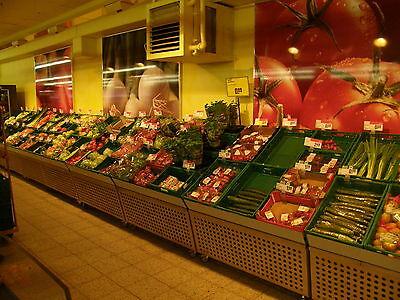 Gemüseschrägen Kesseböhmer Obstregal Gemüseregal Marktschrägen Edelstahl #10165