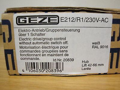 GEZE Antrieb E 212 R 1 230 Volt RAL 9016 weiß