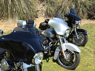 "Harley 6"" Windshield Dark Tint - / Street Glide / Touring / '96 to 13"