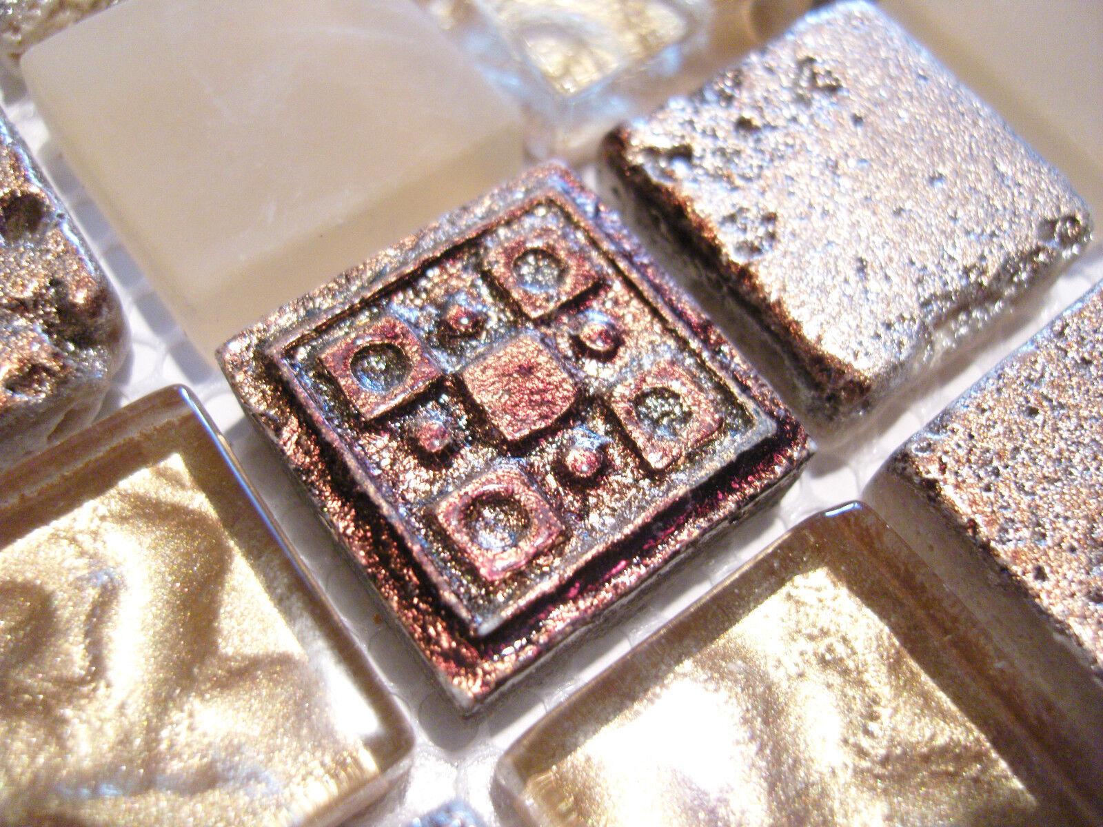 glasmosaik mosaik fliesen klarglas metall ornament gold. Black Bedroom Furniture Sets. Home Design Ideas