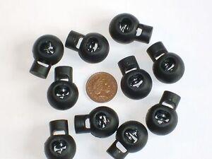 10-x-BLACK-ROUND-CORD-LOCKS-SPRING-TOGGLES