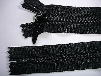 RV 285 - Reißverschluß schwarz ykk 25 cm lang 2 Stück