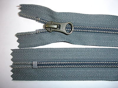 RV 414 - Reißverschluß grau ykk 18 cm lang, nicht teilbar  5 Stück