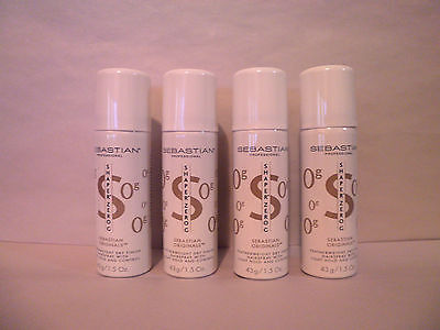 4 Cans Sebastian Shaper Zero Hair Spray Travel Size 1.5 Oz
