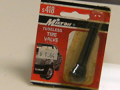 "Milton Industries No. s418 Tubless Tire Valve 2"", snap-in type (S-418)"