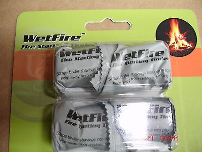 Survival Wetfire Tinder Fire Starter Hiking Camping 8 Cubes