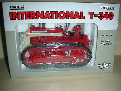 Ertl Usa Case International T-340 Toy Tractor - Die Cast - 1/16 - Scale (b 9)