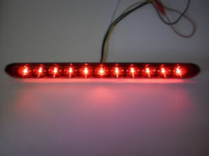 USA-MADE-TecNiq-Red-HI-Mount-Center-Brake-Turn-ID-Bar-11-LED-Light-Trailer-Truck