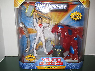 Dc Universe Young Justice Superboy Figure With Sculpted Diorama