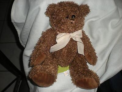 Circo Target Tan Houndstooth Bow Brown Plush Bear In Box Lovey 12
