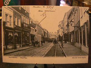 cpa belgique saint ghislain grand'rue animee  eBay