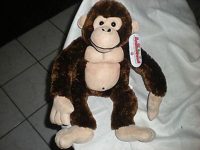 Anmaland Plush Tan Brown Monkey Ape Gorilla Black 16 Chuckles