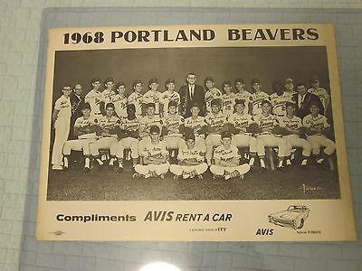 1968 Avis Rent A Car Portland Beavers Team Photo With Lou Piniella