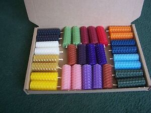 30 Mini Beeswax Rolled Candles for Spell Work (5cm/2 Inch) Altar/Wicca/Pagan