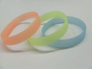 Glow-in-Dark-Rubber-BLUE-Peach-YELLOW-clubbing-silicone-uv-wristband-bracelet