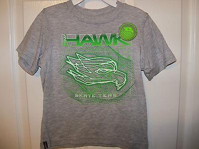 Tony Hawk Skate Team Skateboard Gray Glow In Dark Shirt Boys Size 3t