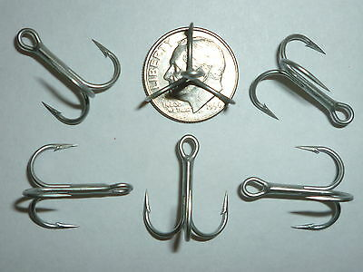 100 Vmc Regular-shank 1x Treble Hooks - Size 6 - Permasteel - 9650ps -bulk -9650