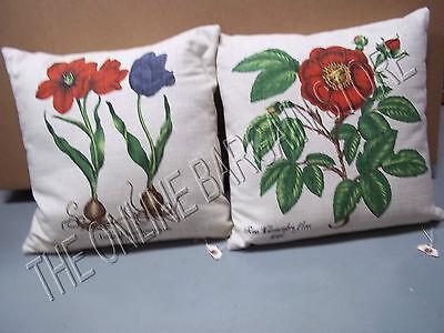 Frontgate Grandinroad Floral Flower Bulbs Bulb Reversible Throw Pillow 17 Decor
