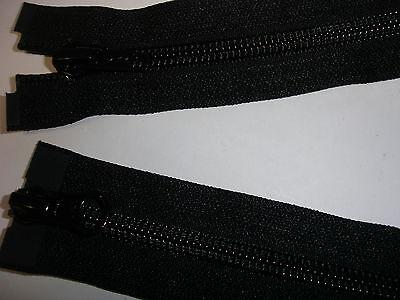 RV 324 - Reißverschluß schwarz ykk 78 cm lang, teilbar als 2-Wege-RV