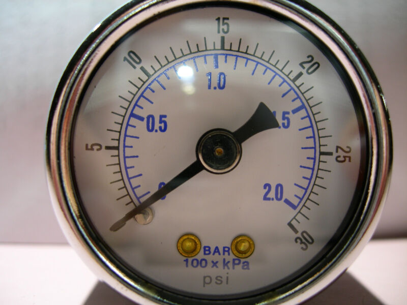 FITS BROASTER,PRESSURE GAUGE,0 TO 30 psi ABS/METAL BRASS WORKS,QUALITY & PRICE