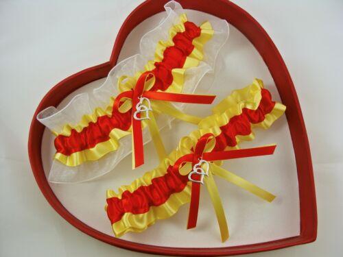 NEW Sexy Red Yellow White Wedding Garter SELECT Single Set Plus SizeCharm