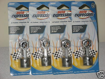 Lot Of 4 Power Piston Hanging Air Fresheners Car Home Popular Fragrance Inspired
