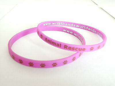 "Animal Rescue Charity Wrist band ""PAWS"" Purple New cute Bracelet wristband * NEW"