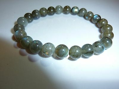 Bracelet Protection Labradorite 8mm -eponge Nrj Negative-litho-reiki