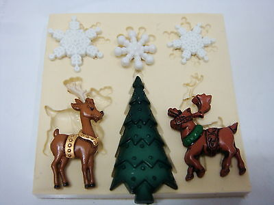 Christmas #8, Silicone Mold Chocolate Polymer Clay Jewelry Soap Melting Wax