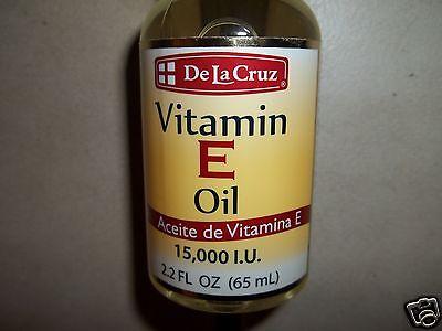 De La Cruz Vitamin E Oil Aceite De Vitamin E 15,000 Iu 2.2 Fl Oz (65 Ml)