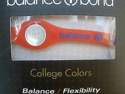 Balance + Bond Bracelet Band College Colors Orange Silicone Ionic Energy Xsmall