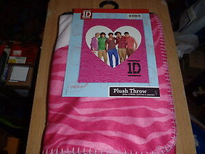 ONE-DIRECTION-1D-Fleece-Blanket-Bed-Plush-Throw-New-With-Tags-Size-50-x-60