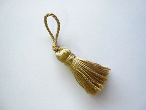 10 Mini craft tassels - Small 5.5cm long decorative tassels - Key cushion tassel