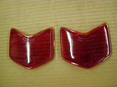 1940 Ford Stimsonite Glass Tail Light Lamp Lenses Pair Duo-lamp