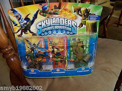 Skylanders Spyro's Adventure Drobot, Flameslinger, Stump Smash Last One