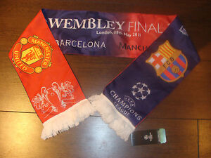Manchester United v Barcelona Champions league Final friendship Scarf 2011 94081