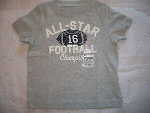 CARTERS-BABY-BOYS-GRAY-WHITE-BLUE-TEE-SHIRT-ALL-STAR-FOOTBALL-NWT