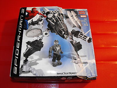 Mega Bloks Spider-Man 3 Super Tech Heroes Symbiote Spider-Man Near Complete 1927