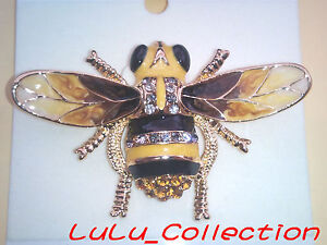 Brand New RUCINNI Swarovski Crystal Bumble Bee Yellow Hornet Brooch Pin 9022