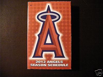 Los Angeles Angels 2012 Mlb Pocket Schedule   Budweiser