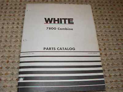 Oliver Tractor White 7800 Combine Dealers Parts Book