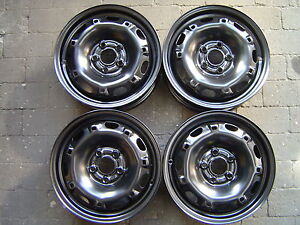 4 Stahlfelgen Felgen VW Polo 9N. VW Polo 6R. Seat Ibiza 5Jx14H2 ET35 Neu! 5210