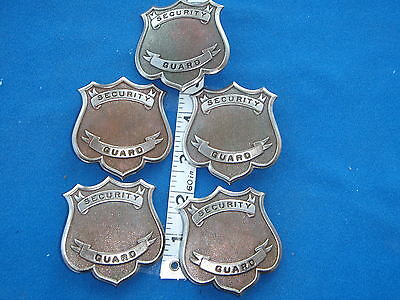 Security guard BADGE BLANKS  SIX UNFINISHED  BADGE BLANKS     OBSOLETE