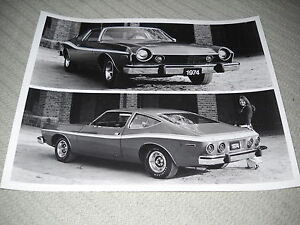 1974 AMC MATADOR COUPE, ORIGINAL 8 x 10 Inch PRESS PHOTO, BROCHURE