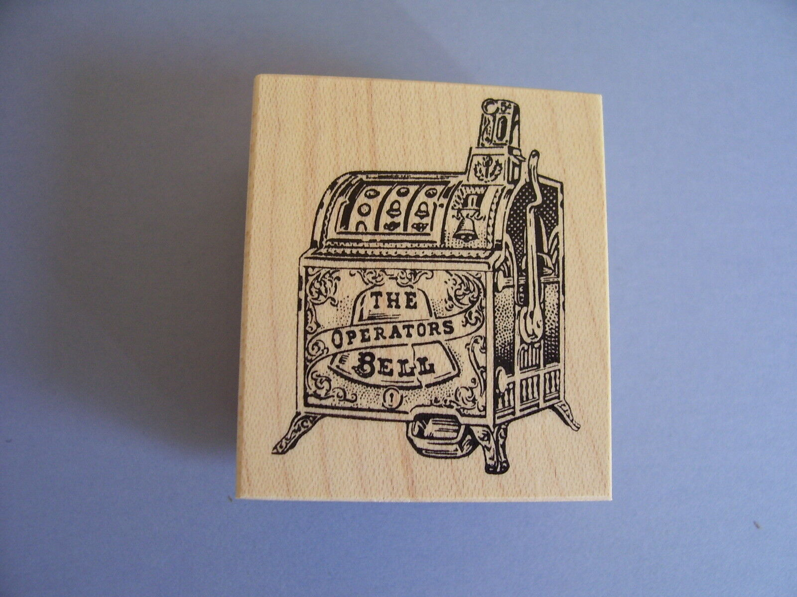 100 Proof Press Rubber Stamps One Arm Bandit Slot Machine Casino Stamp