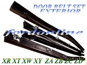 FORD FALCON FAIRMONT FAIRLANE EXTER DOOR BELT SEAL set 4 XR XT XW XY ZA ZB ZC ZD