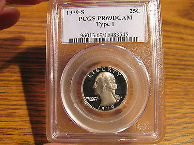 1979-S T-1 WASHINGTON QUARTER PCGS PR69 DCAM LIST $25